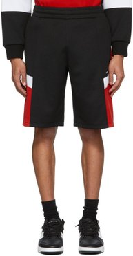 Black and Red Logo Sweat Shorts