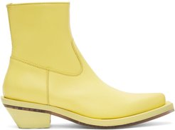 Yellow Pointed Boots