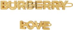 Gold Logo and Love Hair Clips