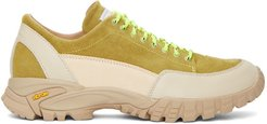 Beige and Green Possagno Sneakers
