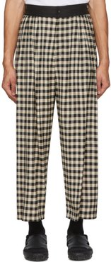 Black Block Check Wide Trousers
