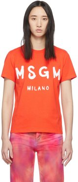 Orange MSGM Milano T-Shirt