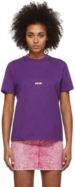 Purple Micro Logo T-Shirt