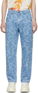Blue Water Effect Jeans