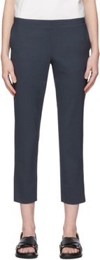 Black Wool Pull-On Trousers