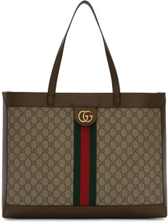 Brown and Beige GG Ophidia Tote
