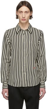 Black and Off-White Striped Shirt