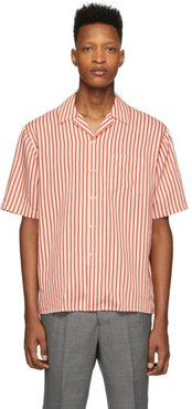 Red and Off-White Striped Shirt