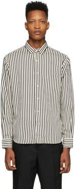 White and Black Striped Summer Fit Shirt