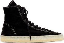 Black Canvas High-Top Sneakers