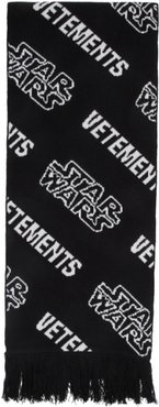 Black and White STAR WARS Edition All Over Logo Scarf