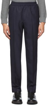 Navy Wool Paolo Trousers