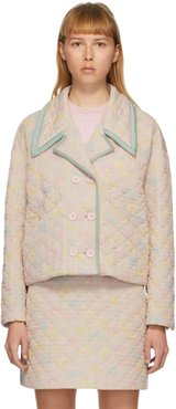 Pink Quilted Daisies Jacket