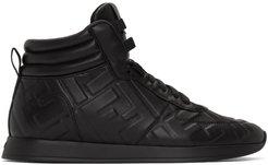 Black Nappa Forever Fendi High-Top Sneakers
