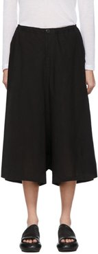 Black Wrap Flared Trousers