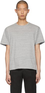 Grey Embroidered Logo T-Shirt