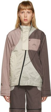 Purple and Beige Converse Edition Panelled Track Jacket