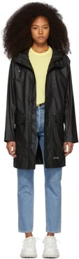 Black Ekeby Lightweight Long Raincoat