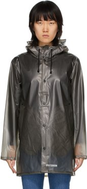 Grey Transparent Raincoat