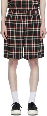 Black Undercover Edition Check Shorts