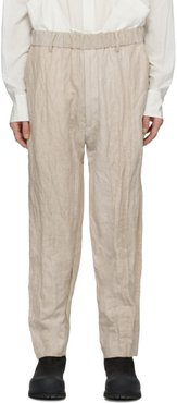 Beige Panelled Trousers