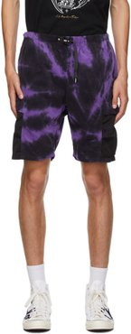 Purple and Black Gramicci Edition Tie-Dye Shorts