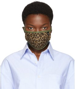 Tan and Green Surplus Leopard Mask