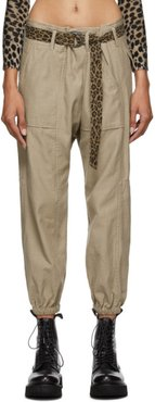 Khaki Crossover Utility Drop Trousers