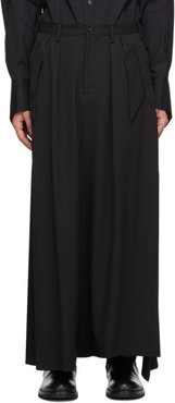 Black Layered Skirt Trousers