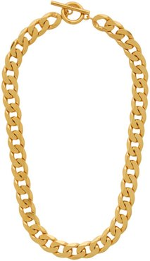 Gold Polished Moto Necklace