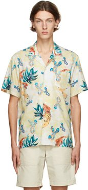 Yellow Hawaiian Tiger Camp Shirt
