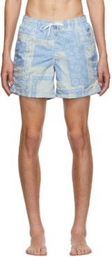 Blue Bandana Swim Trunks