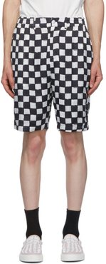 Black and White Cross Town Shorts