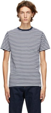 Navy and White Striped Niels T-Shirt