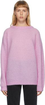 Pink Wool and Mohair Oversized Sweater