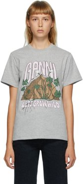 Grey Lets Grow Wild Graphic T-Shirt