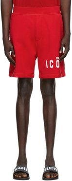 Red Relaxed Fit Icon Shorts