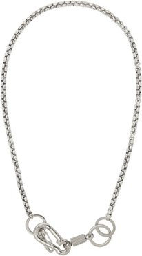 Silver Myles Boxer Wrap Chain Necklace