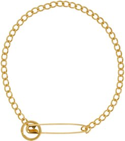 SSENSE Exclusive Gold Pin Necklace