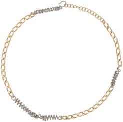 Gold and Silver Mix Chain Necklace
