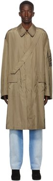 Beige Satin Trench Coat