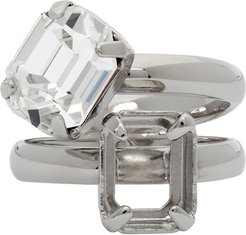 Silver Missing Stone Ring