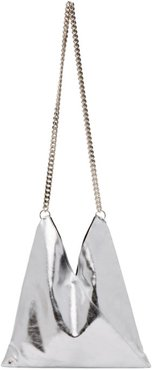 Silver Metallic Triangle Shoulder Bag