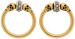 Gold and Silver Front Hoop Earrings