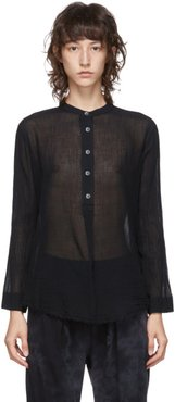 Black Perfect Henley Blouse
