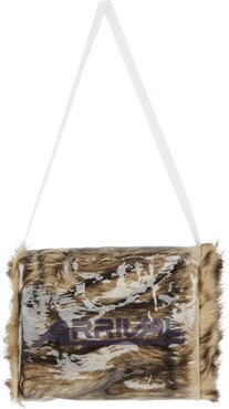 Brown and Off-White Arrival Muff