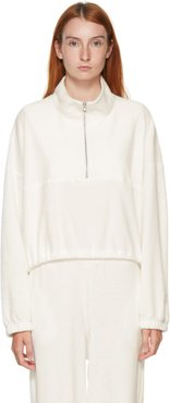 SSENSE Exclusive White Terry Diana Half-Zip Sweatshirt