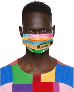 SSENSE Exclusive Multicolor Patchwork Face Mask