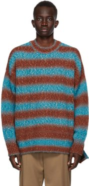 Blue and Red Gradation Stripe Sweater