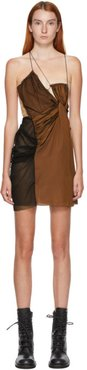 SSENSE Exclusive Black and Brown Twisted Mini Dress